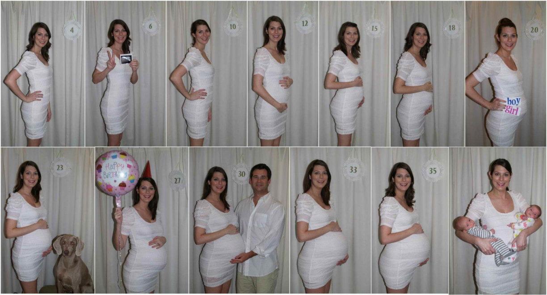 Когда заметен живот у беременных 66