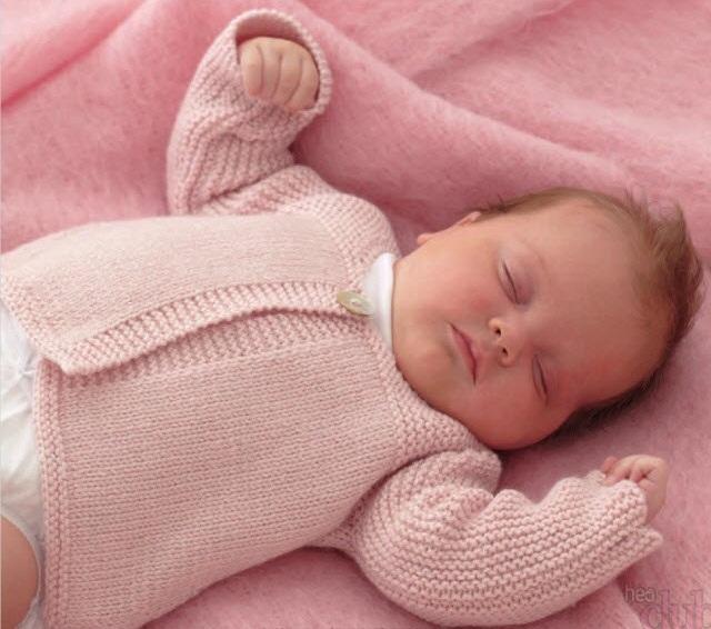 Как вязать кофту для новорожденного